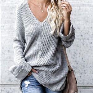 Banana republic knitted grey gray sweater size XL